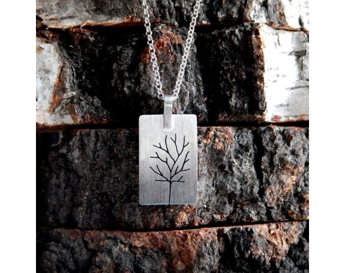 Duża prostokątna zawieszka - Drzewa