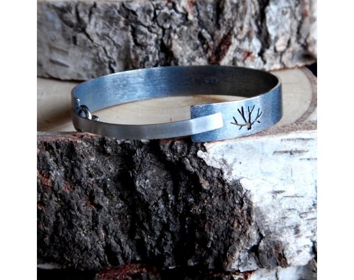 Mała bransoletka z zapięciem - Drzewa