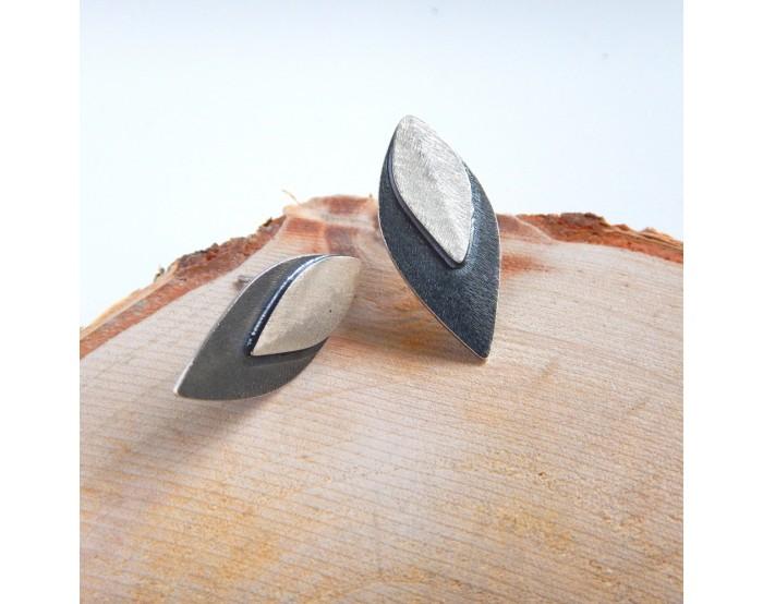 Kolczyki sztyfty - Liście