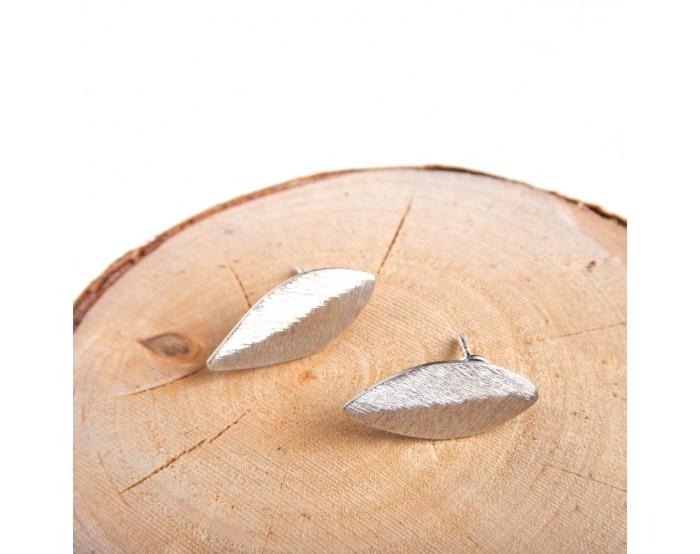 Małe kolczyki sztyfty - Liście