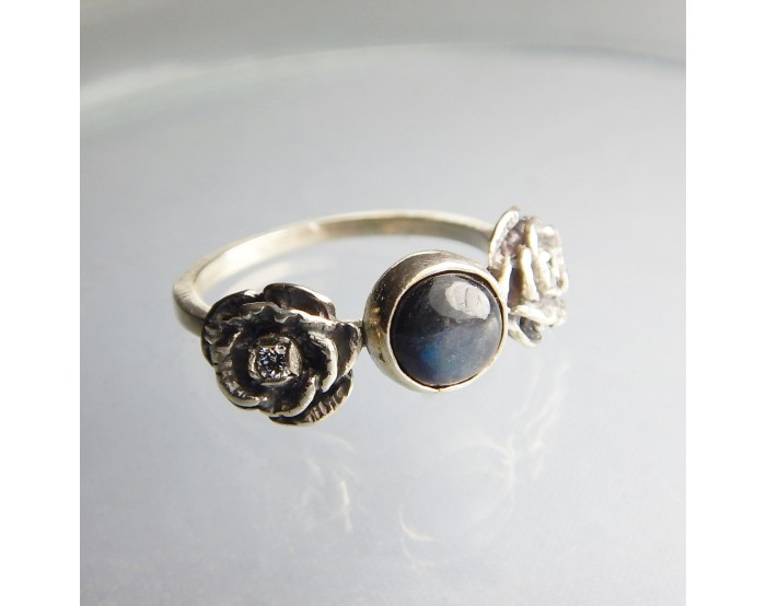 Pierścionek Róże - Unikat